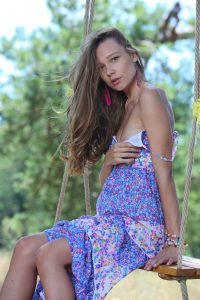 Sweet Brunette About To Show Us Her Pussicat
